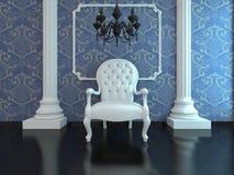 белизна стула Стоковое Фото