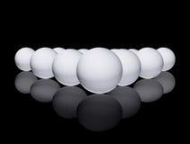 белизна сферы Стоковые Фотографии RF