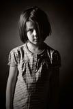 белизна съемки черного ребенка унылая Стоковое Фото