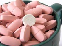 белизна таблетки Стоковые Фотографии RF