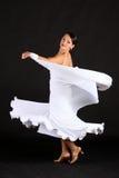 белизна танцора стоковое изображение rf