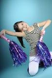 белизна танцы ребенка Стоковая Фотография RF