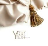 белизна текстуры сатинировки ткани Стоковая Фотография RF