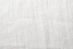 белизна текстуры хлопко-бумажная ткани Стоковое фото RF