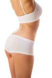 белизна тела изолированная женщиной совершенная Стоковые Фотографии RF