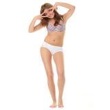 белизна тела изолированная женщиной Стоковые Изображения RF