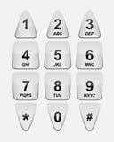 белизна телефона клавиатуры Стоковое Изображение RF