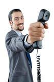 белизна телефона принципиальной схемы связи Стоковые Изображения RF