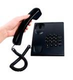 белизна телефона руки предпосылки людская Стоковая Фотография RF