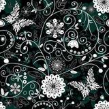 белизна темной флористической картины безшовная иллюстрация штока
