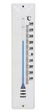 белизна термометра стоковое изображение rf