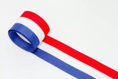 белизна тесемки голубого красного цвета Стоковая Фотография