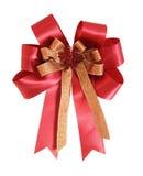 белизна тесемки подарка смычка красная Стоковые Фотографии RF