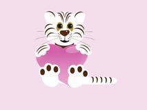 белизна тигра сердца Стоковая Фотография