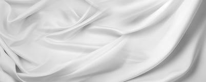 белизна ткани silk Стоковая Фотография