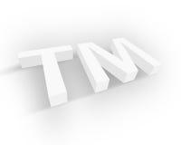 белизна товарного знака символа Стоковые Фотографии RF