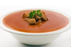 белизна томата супа предпосылки Стоковые Фотографии RF