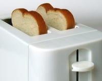 белизна тостера хлеба Стоковое Изображение RF