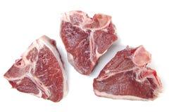 белизна трио овечки chop предпосылки Стоковые Фотографии RF