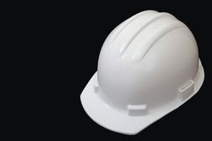 белизна трудного шлема Стоковые Фото
