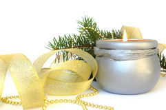 белизна украшения свечки Стоковое фото RF