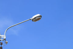 белизна улицы 8 изолированная eps светильников Стоковое фото RF