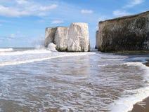 белизна утеса Англии пляжа Стоковое Изображение