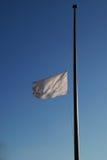 белизна флага Стоковая Фотография RF