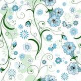 белизна флористической картины безшовная Стоковое фото RF