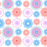 белизна флористической картины безшовная Стоковое Изображение