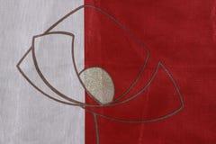 белизна фона красная Стоковые Изображения