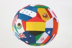 белизна футбола предпосылки изолированная шариком Красивый шарик поклонников футбола Стоковая Фотография RF