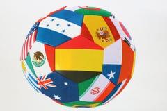 белизна футбола предпосылки изолированная шариком Красивый шарик поклонников футбола Стоковая Фотография