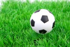 белизна футбола травы шарика Стоковое фото RF