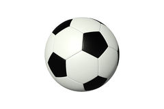 белизна футбола шарика предпосылки Стоковые Изображения RF
