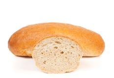 белизна хлебца отрубей изолированная хлебом Стоковая Фотография