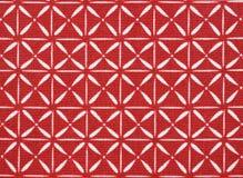 белизна хлопко-бумажная ткани красная стоковое фото