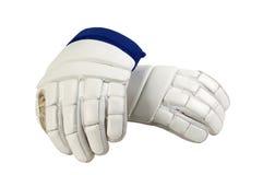 белизна хоккея перчаток Стоковое Изображение