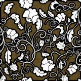белизна цветка безшовная Стоковая Фотография RF
