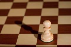 белизна части пешки chessboard шахмат Стоковые Изображения