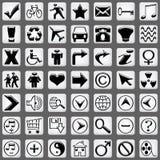 белизна части 2 икон установленная Стоковые Изображения