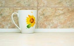 белизна чашки Стоковые Фото