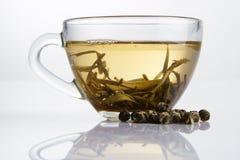 белизна чая чашки свежая стеклянная Стоковая Фотография RF