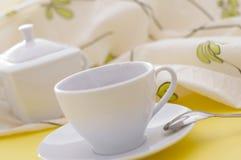 белизна чая чашки Стоковое Фото