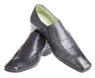 белизна человека s ботинка предпосылки Стоковая Фотография RF