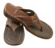 белизна человека s ботинка предпосылки Стоковое Изображение RF