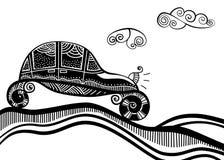 белизна черного автомобиля ретро Стоковые Изображения