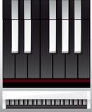 белизна черного рояля ключей иллюстрации установленная иллюстрация штока