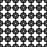 белизна черной картины безшовная Стоковая Фотография