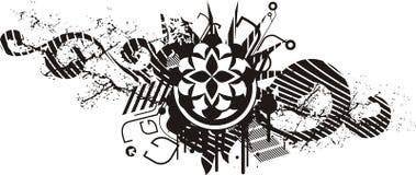 белизна черной конструкции флористическая Стоковое фото RF